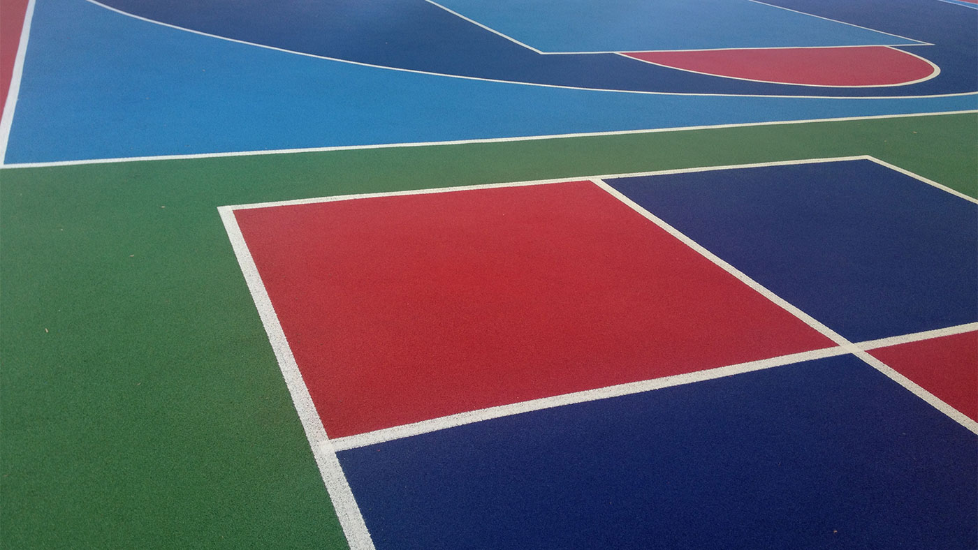 Sports courts linemarking
